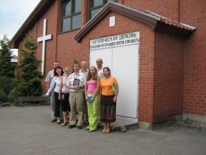 Первая молитвенная встреча группы ы приходе Святого Семейства г.калининграда 21.07.2006.